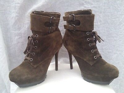 32850c8f3a95 SAM EDELMAN VANCOUVER Ankle Booties  Green Suede   Combat   Fall ...