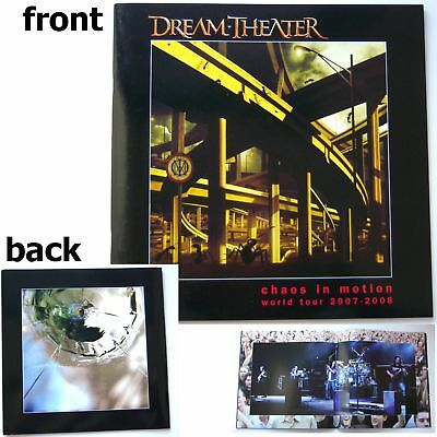 Dream Theater Chaos In Motion 2007 2008 Tour Book New!