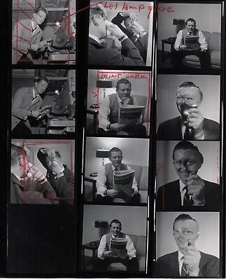48693. Original Photo Contact Sheet NBC Radio/TV Star Jack Berch Baritone Singer