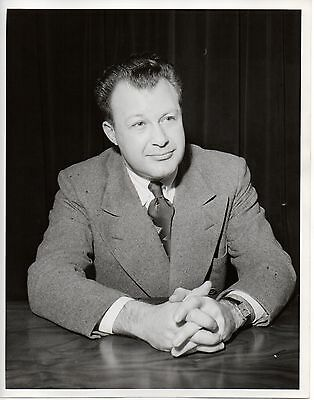 "46906. Original 1947 Photo NBC TV Clifton Fadiman ""Information Please"" Emcee"