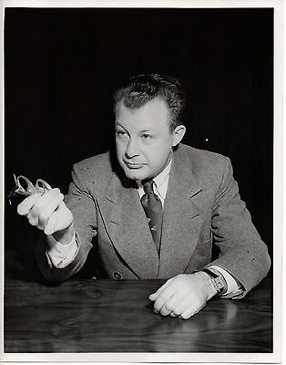 "46907. Original 1947 Photo NBC TV Clifton Fadiman ""Information Please"" Emcee"