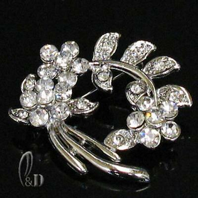 AU SELLER Gorgeous Sparkling Made with Swarovski Crystal  Brooch br028-15