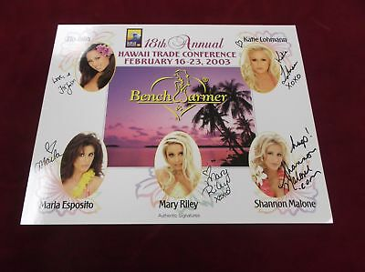 Hawaii Trade Conference BenchWarmers Auto Promo Sheet Mary Riley + More (C3)