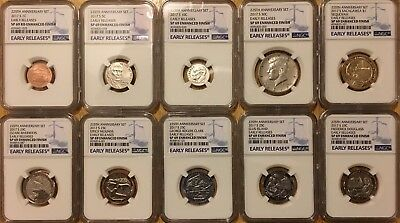 2017 S 225Th Anniversary Enhanced Uncirculated Set Ngc Sp69 Er Early Releases Bl
