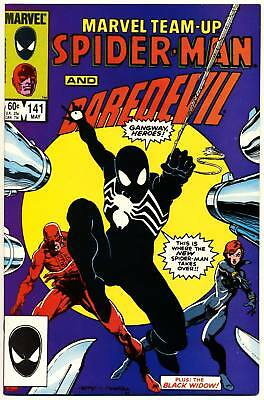 MARVEL TEAM-UP #141 VF, Spider-Man tied for 1st Black Costume, Comics 1984