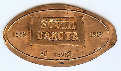 South Dakota Elongated Penny - Wagaman  (Rolled in 1969)