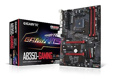 Gigabyte AB350 GAMING AM4 Motherboard B350 Chipset 4x DDR4 Slots ATX Form Factor