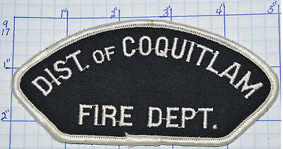 """Canada, District Of Coquitlam Fire Dept British Columbia 5"""" Patch"""