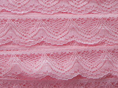 Card of New Lace - Pink Scollop