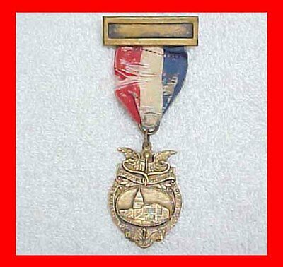 1922 Ribbon Medal International Congress Of Ophthalmology Convention Meeting