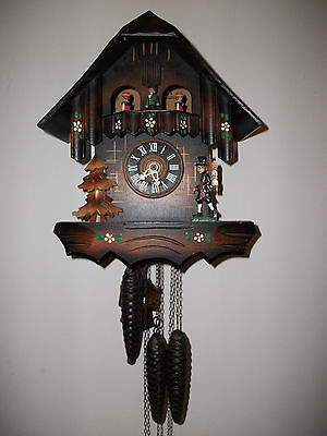Cuendet Musical Cuckoo Clock Germany Edelweiss Swiss Musical Movement