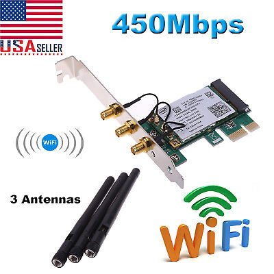 450Mbps WiFi Wireless PCI-Express x1 Adapter Desktop Card for Intel 5300 Chipset