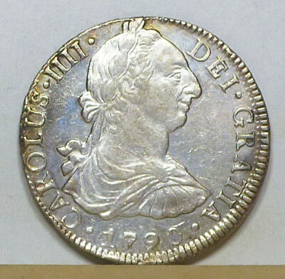 Mexico 8 Reales 1790 EF/Almost Uncirculated