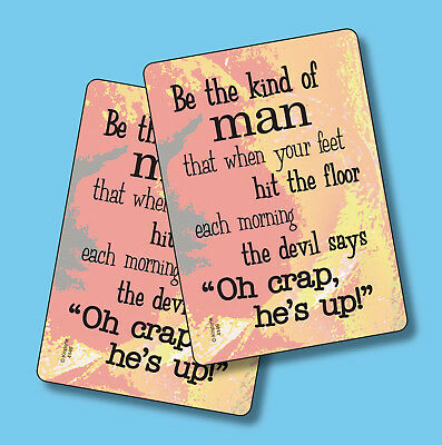 """""""Be The Kind Of Man That When Your Feet"""" - 2 Humorous Verse Cards - sku# 4149"""