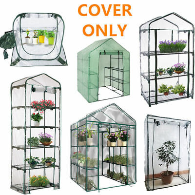 Portable Walk In Greenhouse PE Cover Garden Green House Plant Shed PVC Cover