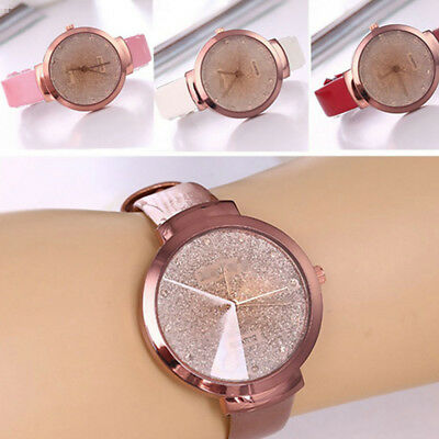 Fashion Casual Stainless Steel Leather Watch Women's Analog Quartz Wrist Watches
