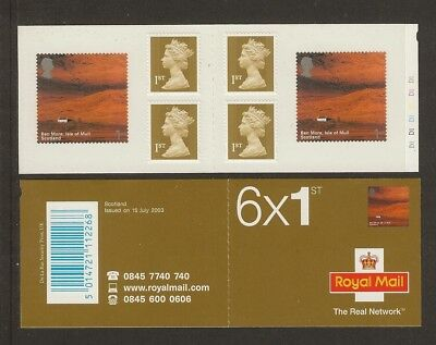 GB Stamps: Self Adhesive Scotland Booklet PM10 Cylinder.