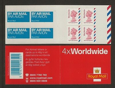 GB Stamps: Self Adhesive Booklet Worldwide MJ2.