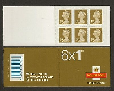 GB Stamps: Self Adhesive Machin Barcode Booklet MB6.
