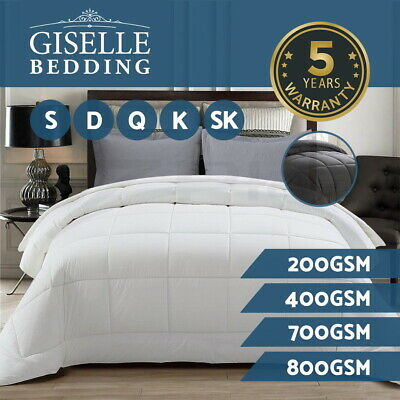 Giselle Bedding Microfiber Quilt Microfibre Duvet Cover Doona Down Alternative