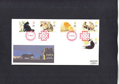 1995 Cats Royal Mail FDC with National Postal Museum London H/S