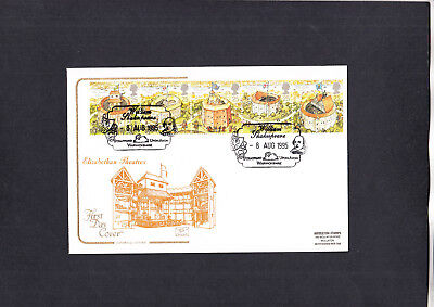 1995 Shakespeare Cotswold FDC with William Shakespeare Stratford H/S