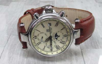 Steinhausen Men's Automatic Chronograph Wristwatch with Leather Strap 11-G518