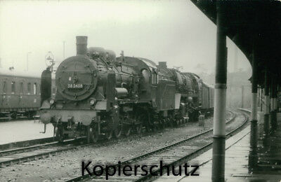 Original Dampflok Foto - 38 2458 + 22 039, Bautzen, September 1967