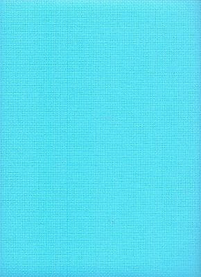 """14 Count Zweigart Aida Cross Stitch Fabric FQ """"Turquoise"""" size 49 x 54cms"""