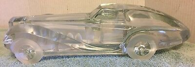 DAUM CRYSTAL ART GLASS CAR COUPE RIVIERA FRANCE SIGNED ENGRAVED ART DECO 80s