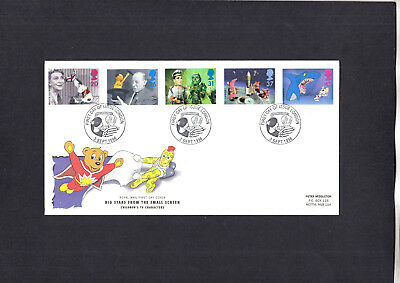 1996 Children's TV Royal Mail FDC with London pictorial FDI H/S