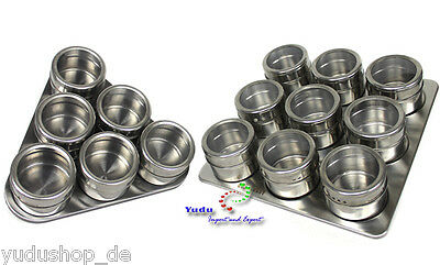 Magnet Spice jars incl. Spice board Stainless steel