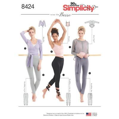 Simplicity Sewing Pattern Misses Knit Leggings Wrap Top  Size Xxs-Xxl 8424