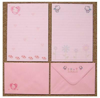 Hello Kitty Hearts and Flowers Letter Writing Paper Stationery Set