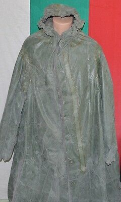 Soviet Russian Army CHEMICAL PROTECTIVE CLOAK Rubberized Cover SUIT