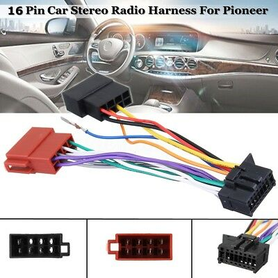 16 Pin Car Stereo Radio Player ISO Wiring Harness Connector For Pioneer 2003-on