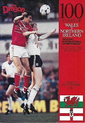 Football Programme>WALES v NORTHERN IRELAND May 1984 @ The Vetch Field,Swansea