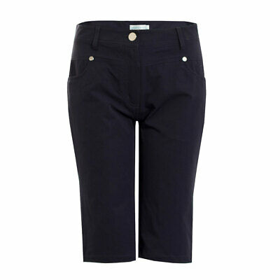 Green Lamb Bermuda Shorts with Silver Stud Details in Navy