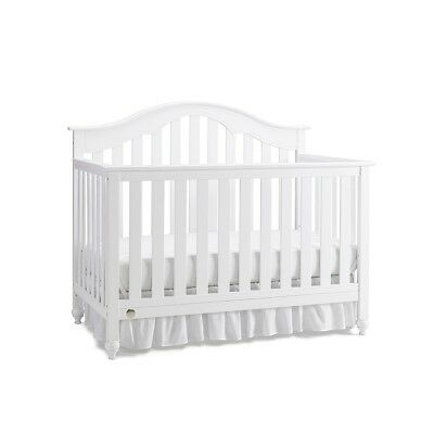 Fisher-Price Kingsport Convertible Crib with Just the Right Height - Snow White