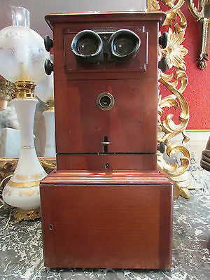antique viewer united france taxiphote photo stereo mahogany stereoscope