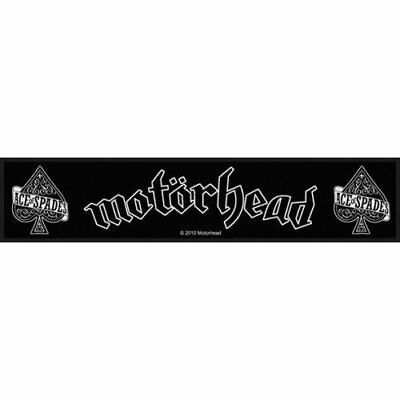 MOTORHEAD ace of spades/band logo - sew on patch  - 200mm x 50mm  FREE UK P&P