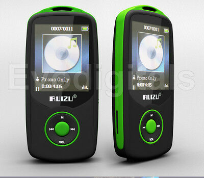 Green Ruizu 4Gb Bluetooth Sports Lossless Mp3 Mp4 Player Music Video Fm Tuner