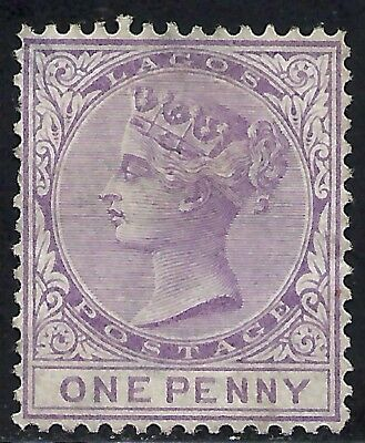 LAGOS SCOTT 7 MNG FINE - 1876 1p LILAC ISSUE  QUEEN VICTORIA
