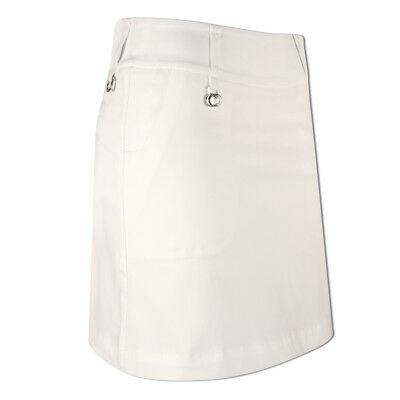Daily Sports Chic Pull-On Skort with Built-In Control in White