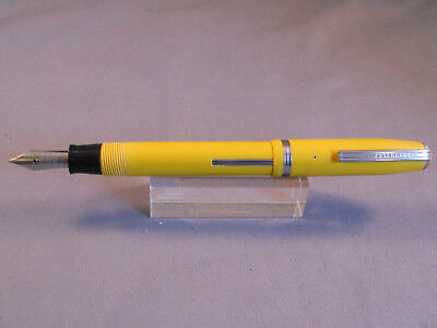 Esterbrook Pastel DARK YELLOW Fountain Pen-- 1555 Gregg fine nib--working
