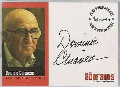 "THE SOPRANOS Dominic Chianese Autographed Trading ""Case"" Card by Inkworks 2005"