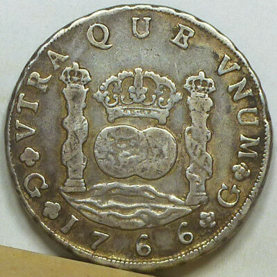 Guatemala 8 Reales 1766 G-P F/Very Fine
