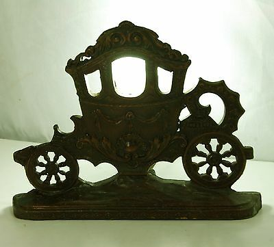 Antique / Vintage Brass Carriage Lamp Flat Side Very Ornate