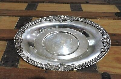 Vintage C.t.c. Best Of Breed Dog Show Trophy - Silver Plated Oval Platter