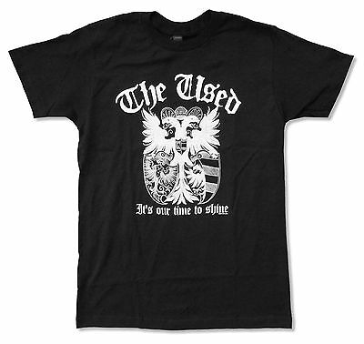 "The Used ""crest"" It's Our Time To Shine Black T-Shirt Xl New Official Band"